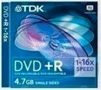 Tdk Dvd+R 4.7 Gb 16x Speed Jewel Case Dvd+R4716X