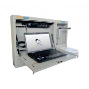 Teachboard TCBBOX Armadio di Sicurezza Porta Notebook con pistone discesa