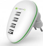 Techly IPW-USB-4PWH Caricabatteria TabletEbook USB