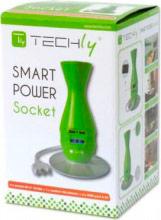 Techly IUPS-PCP-JAR Multipresa 5 Prese Ciabatta Smart Power da scrivania