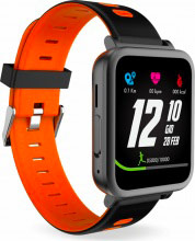 "Techmade TECHWATCHM3-OR Smartwatch Orologio Fitness 1.5"" Cardio Microfono+Speaker"