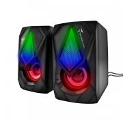 Techmade TM-GAMSPEAKER Casse per PC 2.0 Speaker Gaming 3 watt Luce LED Nero