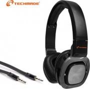 Techmade TM-H006-BK Cuffie Stereo con Microfono Mp3 e Smartphone Jack da 3.5mm