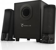 Techmade TM-V2209U Casse per PC 2.1 con Subwoofer Altoparlanti trasformabili Nero