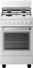 Tecnogas Cucina a Gas 4 Fuochi Forno a Gas Grill 50x50 cm Coperchio - D12WS