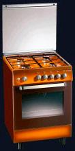 Tecnogas Cucina a Gas 4 Fuochi Forno a Gas Grill 60x50 cm con Coperchio D52NCS
