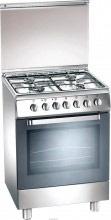 Tecnogas Cucina a Gas 4 Fuochi Forno a Gas Grill 60x50 cm Coperchio Inox- D52NxS