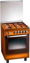 Tecnogas Cucina a Gas 4 Fuochi Forno Elettrico 60x60 cm Coperchio Marrone D63NCS
