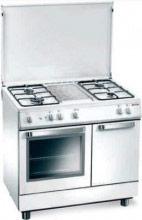 Tecnogas Cucina a Gas 4 Fuochi Forno a Gas Grill 80x50 cm portabombola - D832WS