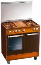 Tecnogas Cucina gas 4 Fuochi Forno Elettrico Statico 80x50cm Portabombola D833CS