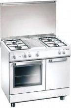 Tecnogas Cucina a Gas 4 Fuochi Forno Elettrico Grill 80x50 cm Coperchio - D833WS