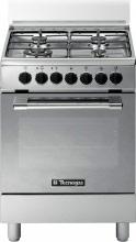 Tecnogas Cucina a Gas 4 Fuochi Forno Elettrico Ventilato Grill 60x60 cm - P664MX