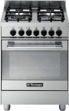 Tecnogas Cucina a Gas 4 Fuochi Forno Elettrico Ventilato Grill 60x60 cm PT667xS