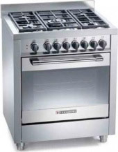 Tecnogas Cucina a Gas 5 Fuochi Forno Elettrico Ventilato 70x60 cm Inox - PT767XS