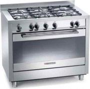 Tecnogas Cucina a gas 5 Fuochi Forno Elettrico Multifunzione 90x60 cm PT999XS