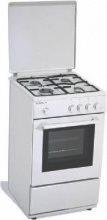 REGAL BY TECNOGAS Cucina a Gas Forno a Gas 4 Fuochi cm 50x50 col. Bianco R12W