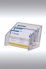 Tecnostyl BCH02 Portabiglietti 3 Scomparti Da Tavola Trasparente