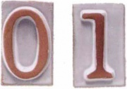 Telcom T31090 Numero Civico Vasarte in Terracotta 0
