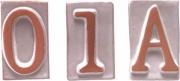 Telcom T31091 Numero Civico In Terracotta 1 cm 8,5H Pezzi 5