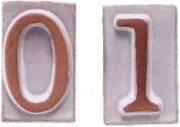 Telcom T310969 Numero Civico Vasarte in Terracotta 69