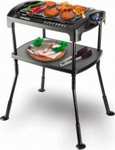 Telefunken Barbecue Elettrico da Esterno BBQ Giardino Gambe Pieghevoli 844 Happy