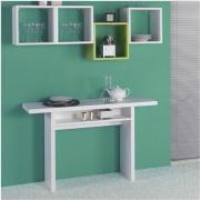 Terraneo EL530 Consolle allungabile Tavolo legno MDF 120x3570x75h cm Bianco