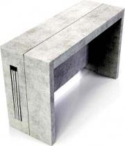 Terraneo EL542_Beton Consolle allungabile Tavolo legno riciclato 120x44186x75 cm EL542