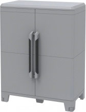 TERRY Armadio esterno in resina 2 ante 78 x 43 x 101 h Grigio 1002906 Modular 2