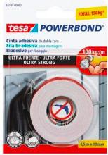 Tesa 55791-00002 Nastro biadesivo per fissaggio ultra forte 1,5 mt x 19 mm