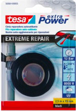 Tesa 56064-00005 Nastro autoagglomerante extra power 2,5 mt x 19 mm nero Extreme Repair