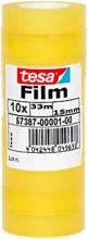 Tesa 57387-00001-01 Confezione 10 Nastro Adesivo Trasparente 15 mm x33M