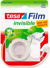 Tesa 57660 Scotch trasparente Invisible 10mt x19mm Nastro adesivo + dispenser