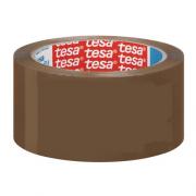 Tesa 57690 Nastro adesivo per imballaggio standard mm 50x66 mt avana