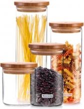 Tescoma 894626 Barattolo per Alimenti Vetro con Tappo Bamboo cc 1800 Fiesta