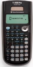 Texas Instruments TI30XPRO Calcolatrice Scientifica Tascabile 4 righe Nero TI-30 XPRO