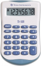 Texas Instruments TI501 Calcolatrice Scientifica Tascabile 8 cifre Blu Bianco
