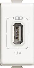 Ticino AM5285C Matix Usb Charger 1.1A White