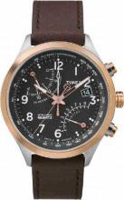 Timex Orologio Uomo Cronografo Cassa Acciaio Cinturino Pelle Marrone TW2P73400