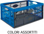Tontarelli 8031015 Cesta Pieghevole Voilà Bicolore Plastica