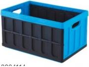 Tontarelli 8034118764 Cassetta pieghevole 54 x36 x28.5 cm 46 lt Nero e Azzurro