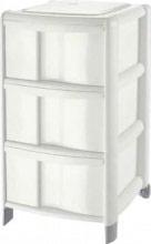 Tontarelli 9022030159 Cassettiera Plastica 3 cassetti 38,5x39,5x67 h cm Bianco