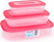 Tontarelli 9040572551 Set 3 contenitori 3-1.88-0.93 Lt Frigo Plastica alimenti