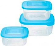 Tontarelli 9040637787 Set 3 contenitori 2.5-1.5-0.95 Lt Frigo Plastica alimenti