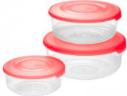 Tontarelli 9040669551 Set 3 contenitori 1.7 1 0.5 Lt Frigo box Plastica alimenti