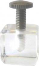Torneria Dal Lago 275-1 Reggipiano Plexiglass a Cubo con Vite mm 20x20 Pezzi 20
