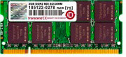 Transcend JM800QSU-2G Memoria RAM 2 GB DDR2 200-pin SO-DIMM Velocità 800 MHz