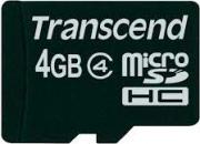 Transcend TS4GUSDHC10 Micro SD 4 Gb Scheda di Memoria Classe 10