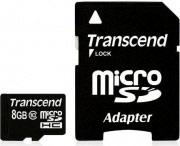 Transcend TS8GUSDHC10 Micro SD 8 GB Classe 10 Memory card Scheda SD 10MBs Nero