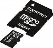 Transcend Scheda di memoria SD SDHC 8 GB + adattatore TS8GUSDHC4