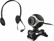 Trust Cuffia per Pc con Microfono + Webcam colore Nero, Argento - 17028